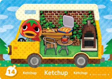 Ketchup Animal Crossing Cards New Leaf Welcome Amiibo