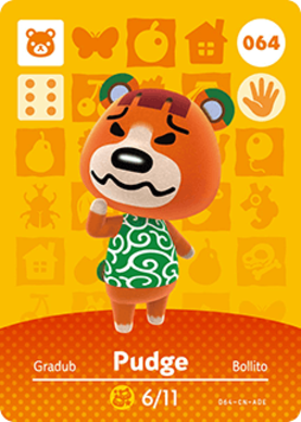 Pudge Animal Crossing Cards Series 1 Amiibo Card Amiibo Life The Unofficial Amiibo Database