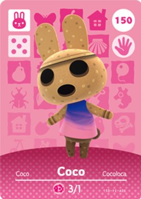 coco animal crossing cards series 2 amiibo card amiibo life