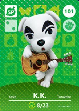 82aba2dc13e712 K.K. (Animal Crossing Cards - Series 2) amiibo card - amiibo life ...