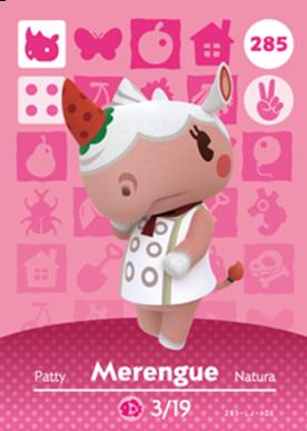 Merengue Animal Crossing Cards Series 3 Amiibo Card