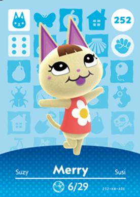 Merry Animal Crossing Cards Series 3 Amiibo Card Amiibo Life The Unofficial Amiibo Database