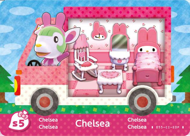 Chelsea Animal Crossing X Sanrio Cards Amiibo Card