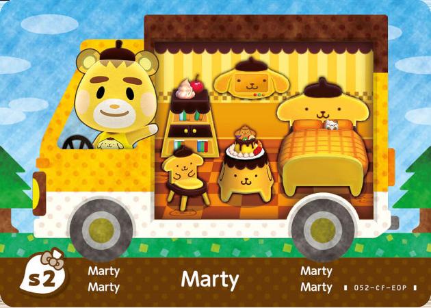 Marty Animal Crossing X Sanrio Cards Amiibo Card