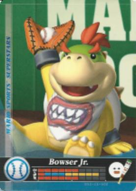 Bowser Jr Baseball Mario Sports Superstars Amiibo Card