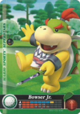 Bowser Jr Golf Mario Sports Superstars Amiibo Card